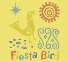 fiesta bird - dark Kids Tee