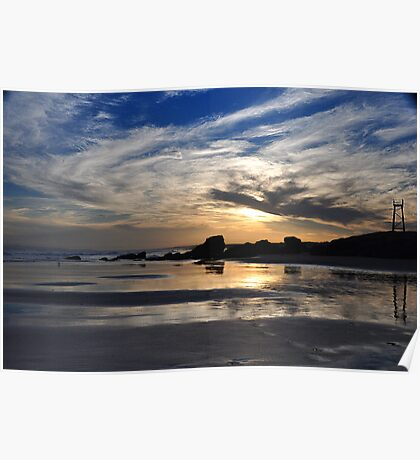 Moody Sunset - Redhead Beach NSW Poster