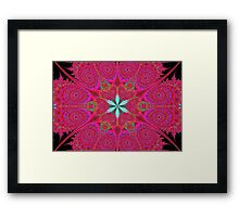 Hot Pink Lace Framed Print