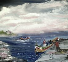 The Maltese Fishermen by tusitalo