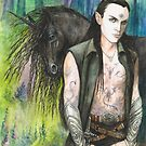 Blackthorn and his Unicorn by morgansartworld