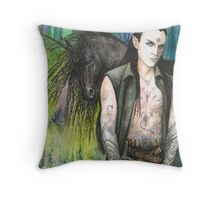 Blackthorn and his Unicorn Throw Pillow
