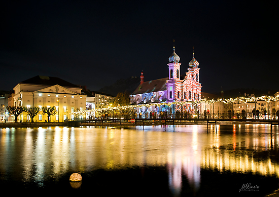 Luzern by night by Mario Curcio