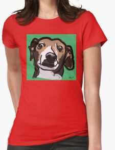 Italian Greyhound_Background Womens Fitted T-Shirt