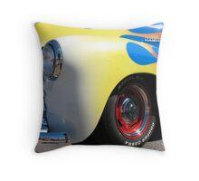 Flamed Truck Throw Pillow
