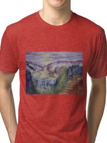Landscape in an experimental technique Tri-blend T-Shirt
