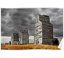 Montana Grain Elevators Poster