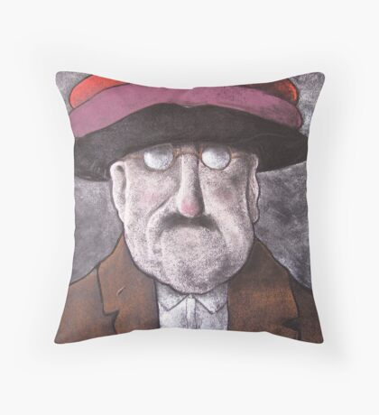Berets with Whipped Cream Throw Pillow