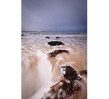 Hopeman water rush Photographic Print
