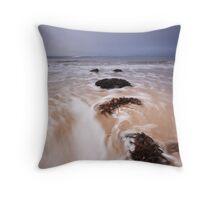 Hopeman water rush Throw Pillow