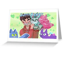 Marco and Princess Pony Head Greeting Card