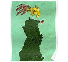 Mythical bird on Mountain top Poster