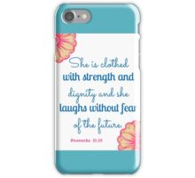 Proverbs 31 Bible Verse iPhone Case/Skin