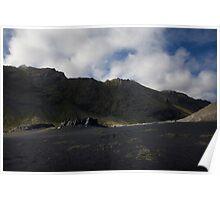 The Black Sands at Álftafjör∂ur, Iceland Poster