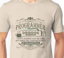 Production Programmer Unisex T-Shirt