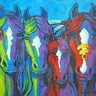 Four Horses by Judy Seltenright