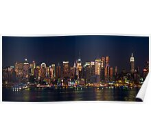 New York City Skyline Panorama Poster