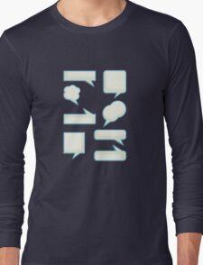 speech bubles  Long Sleeve T-Shirt