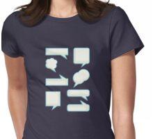 speech bubles  Womens Fitted T-Shirt