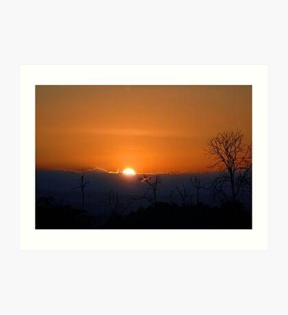 Sunset over Samburu... Art Print