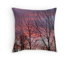Purple Silhouette Throw Pillow
