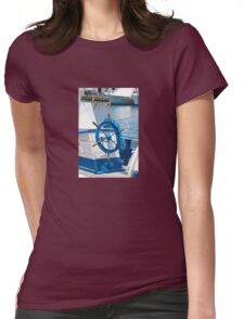 sailor wheel Womens Fitted T-Shirt