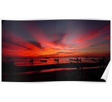 Thai island sunset  Poster