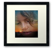 Skyler at Sunset Framed Print