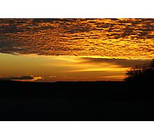 Golden Sunset In Palo Pinto Photographic Print