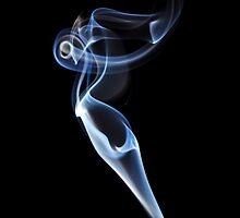 Ether Angel - Smoke Art Series by Hampton Taylor
