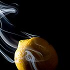 Smoke Lemon - Smoke Art Series by Hampton Taylor