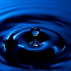 Blue Drop - High Speed Photography by Hampton Taylor