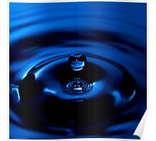 Blue Drop - High Speed Photography Poster