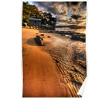 Ripples - Paradise Beach , Sydney - The HDR Experience Poster