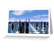 Chess World 7 - End Game Greeting Card