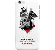 Abstract Horses Alert iPhone Case/Skin