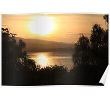 Sunrise on the Derwent River Poster
