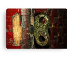2000 year old door - China 2006  Canvas Print