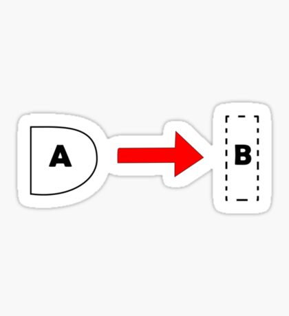 Greeting Card - Tab A and Slot B Sticker