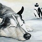 Siberian Husky Dream by Charlotte Yealey