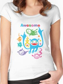 Stay Awesome - light  Women's Fitted Scoop T-Shirt