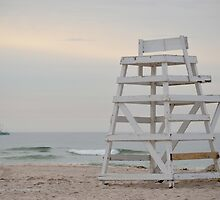 Lifeguard Chair At Ponquogue Beach | Hampton Bays, New York  by © Sophie W. Smith