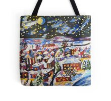 Sleeping Village, Christmas Snow  Tote Bag