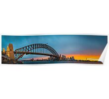 Sydney Panorama Sunset Poster