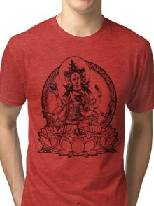 3 Headed Buddha on Lotus T-shirt Tri-blend T-Shirt