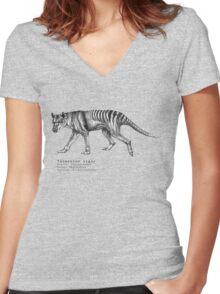 Tasmanian tiger  Women's Fitted V-Neck T-Shirt