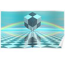 Chess World 10 - Rainbow Cube Poster