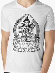 Buddha with Sword on Lotus t-shirt Mens V-Neck T-Shirt