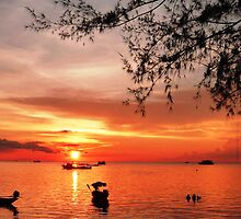 Koh Tao sunset after scuba diving  by DebsM