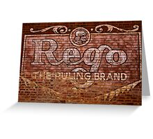 Rego: The Ruling Brand Greeting Card